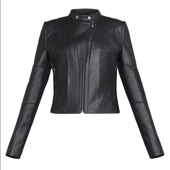 2455fca76eb52 BCBGMaxAzria Jackets & Blazers - BCBGMaxAzria Misa Faux-Leather Moto Jacket